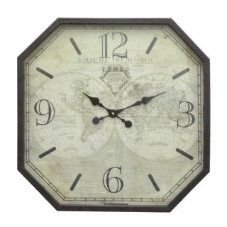 Three Hands Metal Frame Wall Clock|https://ak1.ostkcdn.com/images/products/18148573/P24298900.jpg?impolicy=medium