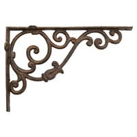 Three Hands Metal Corner Bracket - Rust