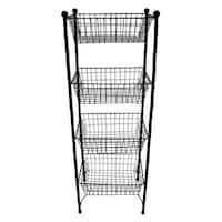 Three Hands Metal Rack - Black
