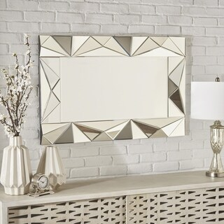 Laoise Geometrical Rectangular Wall Mirror by Christopher Knight Home - Silver