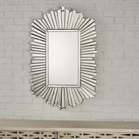 Graydon Star Burst Rectangular Wall Mirror by Christopher Knight Home - Silver