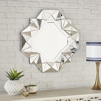 Eagen Geometrical Square Wall Mirror by Christopher Knight Home - Silver