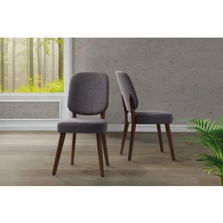 Handy Living Georgetown Grey Linen Armless Dining Chairs (Set of 2)