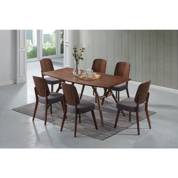 Mid Century Dining Set: Shop Handy Living Georgetown 7-piece Grey And Dark Walnut