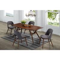 Handy Living Georgetown 5-piece Grey and Dark Walnut Mid Century Modern Dining Set
