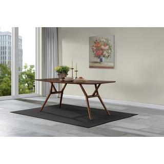 Handy Living Georgetown Dark Walnut Finish Wood Rectangular Dining Table