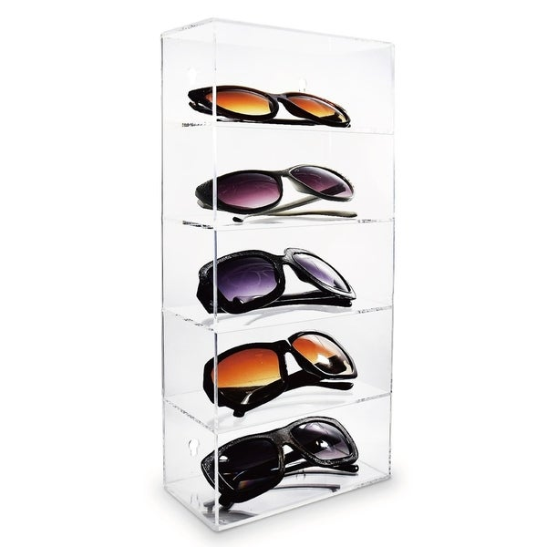 30c23c2d0b Shop Ikee Design Acrylic Five Shelves Eyewear Storage Display 7 1 8 ...