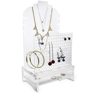 "Ikee Design Acrylic Jewelry Display Holder 7 7/8""W x 7 1/2""D x 14 1/2""H"
