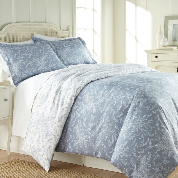 Winter Brush Reversible Floral Duvet and Sham Set