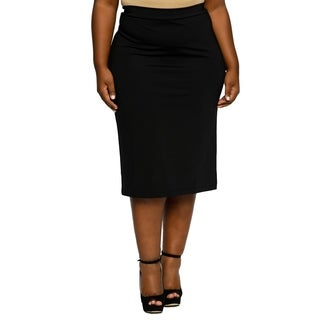 Xehar Womens Plus Size Sexy Slimming Fitted Pencil Skirt