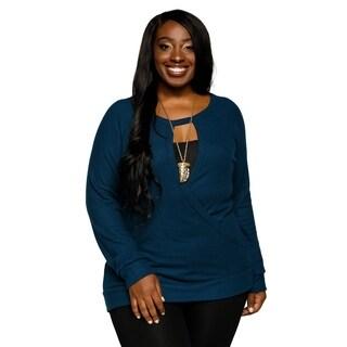 Xehar Womens Plus Size Casual Cozy Surplice Waist Wrap Sweater