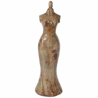 Distressed Finish Mannequin In Brown