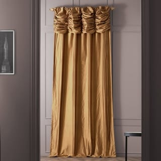 Exclusive Fabrics Signature Ruched Thai Silk 84-inch Curtain