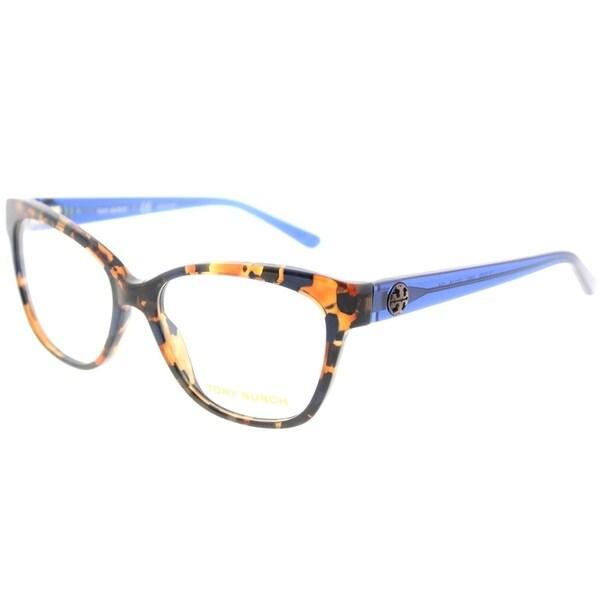 c0d3e7855e1e Tory Burch Square TY 2079 1683 Womens Blue Flake Tort Frame Eyeglasses