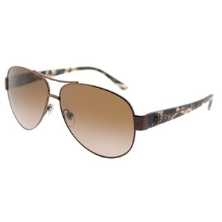 Tory Burch Aviator TY 6057 324213 Womens Bronze Frame Amber Gradient Lens Sunglasses