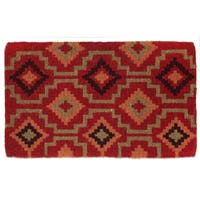"Fab Habitat  Handwoven Extra Thick Durable Lhasa Kilim Coir Doormat 24"" x 36"" x 2"""