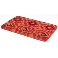 "Fab Habitat Handwoven Durable Lhasa Kilim Coir Doormat 18"" x 30"""