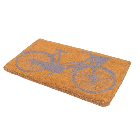 "Handmade Pedal Power Bicycle Coir Extra Thick Durable Doormat - 18"" x 30"""