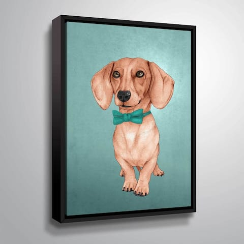 Barruf's The Weiner Dog, Gallery Wrapped Floater-framed Canvas