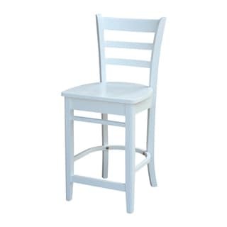International Concepts Emily Counterheight Stool in white