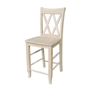 Eleanor X Back Wood 24 In Counter Chair Set Of 2 By