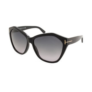 Tom Ford/Angelina/TF0317-01B/Women's/Shiny Black Frame/Smoke Grey Gradient Lens/Sunglasses