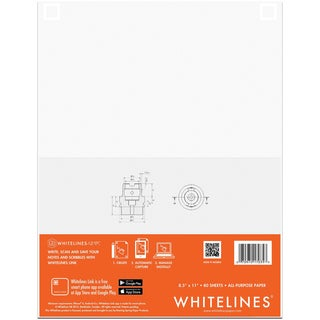 "Whitelines All Purpose Paper 8.5""X11"" 100 Sheets"