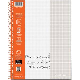 """Whitelines Wirebound Graph Notebook 11""""X8.5"""" 70 Sheets"""