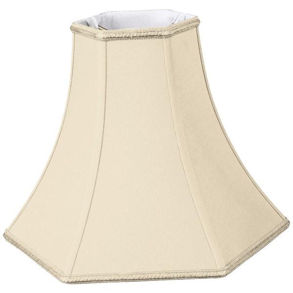 Royal Designs Hexagon Bell Designer Lamp Shade, Beige, 3.5 x 8 x 6.5