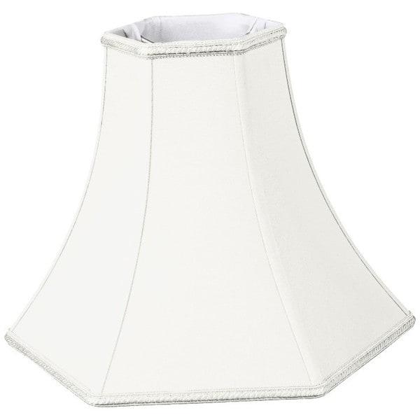 Royal Designs Hexagon Bell Designer Lamp Shade, White, 5 x 12 x 9.5