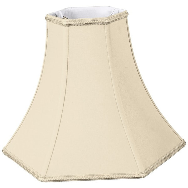 Royal Designs Hexagon Bell Designer Lamp Shade, Beige, 5 x 12 x 9.5