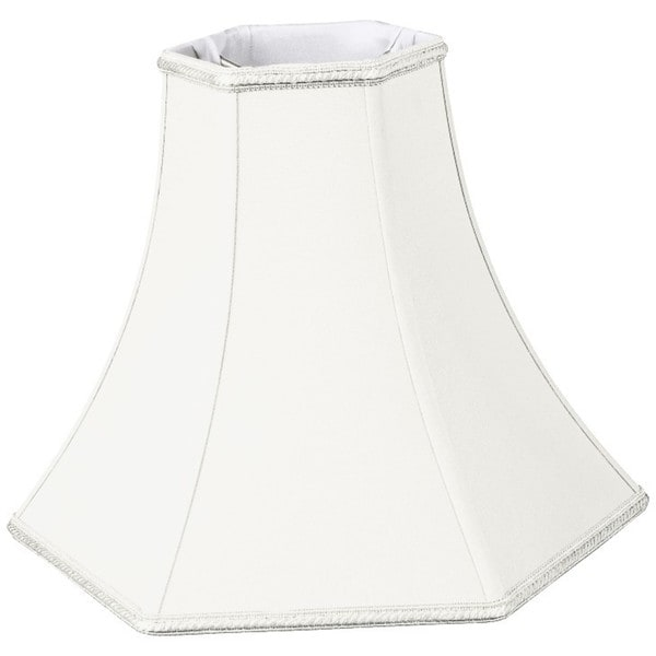 Royal Designs Hexagon Bell Designer Lamp Shade, White, 4 x 10 x 8