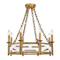 """Exeter Collection Chandelier  D25.75"""" H10.125"""" Golden Iron Finish"""