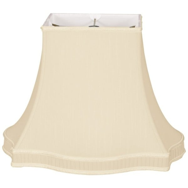 Royal Designs Rectangle Bell with Bottom Gallery Designer Lamp Shade, Beige, (7 x 5) x (14 x 10.5) x 10.5