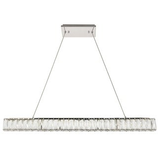 Monroe Collection Chrome and Crystal LED Chandelier