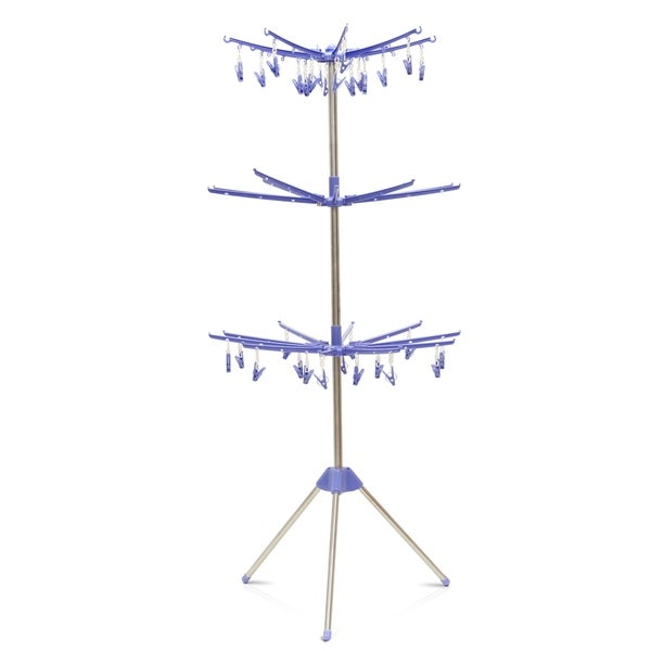 Shop Furinno Fnbq 22119 Yijin Clothes Drying Stand Blue