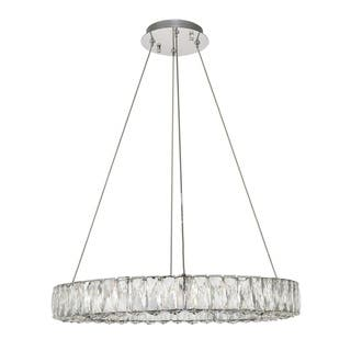 Monroe Collection Chrome Finish Stainless Steel/ Crystal Chandelier|https://ak1.ostkcdn.com/images/products/18152133/P24301949.jpg?impolicy=medium