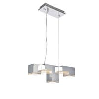"Glasgow Collection Pendant L17.7"" D7.9"" H6.5"" Chrome Finish"