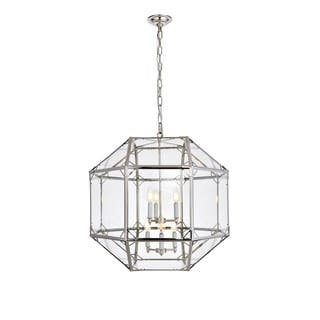 Gordon Collection Polished Nickel-finished Metal/Glass LED 6-sided Chandelier https://ak1.ostkcdn.com/images/products/18152162/P24301994.jpg?impolicy=medium