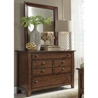 Gracewood Hollow Morrison Pebble Rock Dresser and Mirror