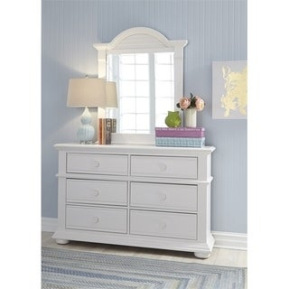 Summer House Oyster White Dresser and Mirror