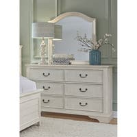 Bayside Heavy Wire Brushed Antique White Dresser and Mirror