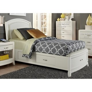 Avalon II White Truffle One Sided Storage Bed (2 options available)