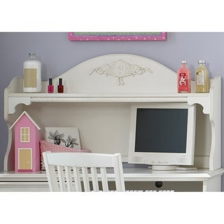 Arielle Antique White Student Hutch