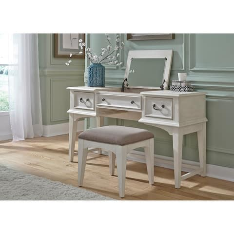 Bayside Heavy Wire Brushed Antique White Vanity