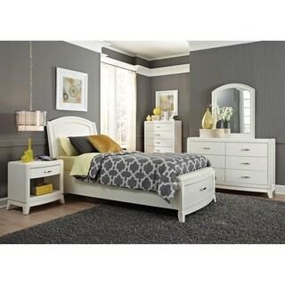 Avalon II White Truffle Leather Storage Bed