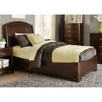 Avalon Dark Truffle Panel Bed