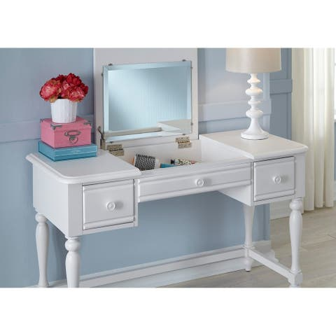 Summer House Youth Oyster White Vanity Desk
