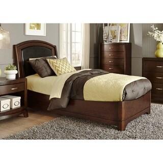 Avalon Dark Truffle Leather Bed