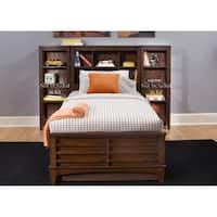 Chelsea Square Burnished Tobacco Bookcase Bed